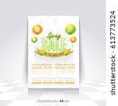 a4 style flyer  poster ... | Shutterstock .eps vector #613773524