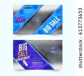 website banner  horizontal... | Shutterstock .eps vector #613773653