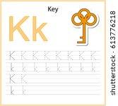 writing a z  alphabet ...   Shutterstock .eps vector #613776218
