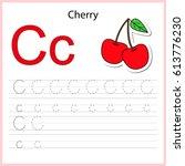 writing a z  alphabet ... | Shutterstock .eps vector #613776230