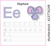 writing a z  alphabet ... | Shutterstock .eps vector #613776248