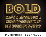 vector of stylized bold font... | Shutterstock .eps vector #613776980