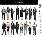 diversity business people set... | Shutterstock . vector #613781189