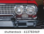 color detail on the headlight... | Shutterstock . vector #613783469