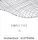 hand drawn template or border... | Shutterstock .eps vector #613793006