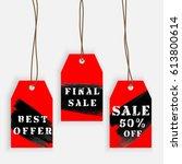 set of sale labels  discounts... | Shutterstock .eps vector #613800614