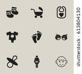 set of 9 editable infant icons. ...