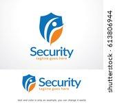security logo template design... | Shutterstock .eps vector #613806944
