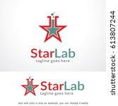 star lab logo template design...   Shutterstock .eps vector #613807244