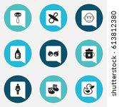 set of 9 editable child icons....