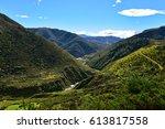 ashley gorge flowing through...   Shutterstock . vector #613817558