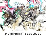 colourful marble abstract... | Shutterstock . vector #613818380