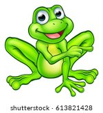A Cartoon Frog Mascot Characte...