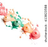 spilled nail polish isolated on ... | Shutterstock . vector #613823588