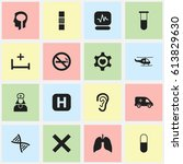 set of 16 editable care icons....