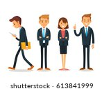 business people  | Shutterstock .eps vector #613841999