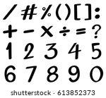 black font design for numbers | Shutterstock .eps vector #613852373