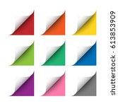 vector realistic white paper... | Shutterstock .eps vector #613853909