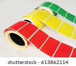 color rolls of labels for... | Shutterstock . vector #613862114