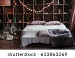 coziness  comfort  interior and ... | Shutterstock . vector #613863269