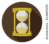 hourglass  icon | Shutterstock .eps vector #613865450
