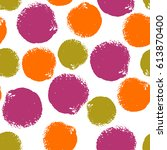 colorful grunge seamless...   Shutterstock .eps vector #613870400