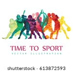color sport background.... | Shutterstock .eps vector #613872593