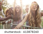 never ending party with the... | Shutterstock . vector #613878260