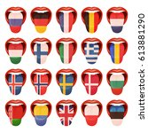 set of languages | Shutterstock .eps vector #613881290