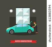 auto inspection concept vector... | Shutterstock .eps vector #613883594
