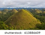 the chocolate hills view  bohol ... | Shutterstock . vector #613886609