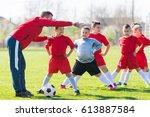 kids soccer football   small...   Shutterstock . vector #613887584