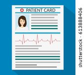 patient card. medical report....   Shutterstock .eps vector #613888406