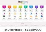 timeline infographics design... | Shutterstock .eps vector #613889000