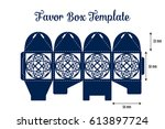 wedding favor box laser cut... | Shutterstock .eps vector #613897724
