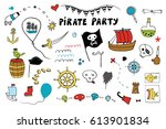 pirate party color set | Shutterstock .eps vector #613901834