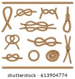 abstract rope elements set.... | Shutterstock .eps vector #613904774