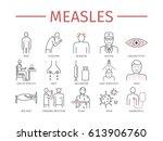 measles. symptoms  treatment.... | Shutterstock .eps vector #613906760