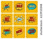 retro sales icon vector card...   Shutterstock .eps vector #613910348