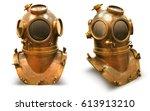 copper old vintage deeps sea... | Shutterstock . vector #613913210