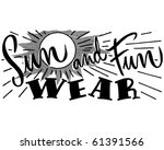 sun and fun wear   ad header  ... | Shutterstock .eps vector #61391566