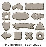 rock interface buttons vector...