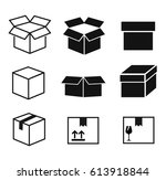 box icons set | Shutterstock . vector #613918844