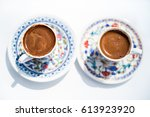 turkish coffee | Shutterstock . vector #613923920