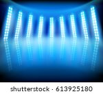 empty stage in television... | Shutterstock .eps vector #613925180