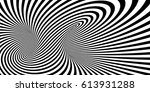 abstract striped spiral vector... | Shutterstock .eps vector #613931288