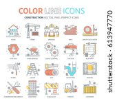 color line   construction... | Shutterstock .eps vector #613947770