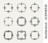 huge rosette wicker border... | Shutterstock .eps vector #613948520