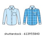 long sleeve shirts isolated.... | Shutterstock .eps vector #613955840