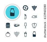 illustration of 12 cuisine... | Shutterstock . vector #613960280
